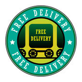 Stamp Free Delivery — Vetorial Stock