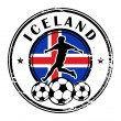 Iceland football — Stock Vector