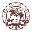Stamp Honolulu, Havaii - Stock Vector