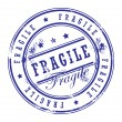 Stock Vector: Stamp Fragile
