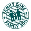 Stamp Family Zone — Stockvectorbeeld