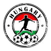 Hungary football — Vector de stock
