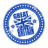 Stamp Great Britain — Stock Vector