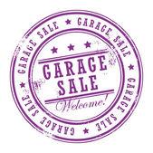 Venda de garagem de carimbo — Vetor de Stock