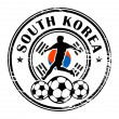 South Korea football — Stock Vector