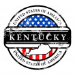 Vector de stock : Stamp Kentucky