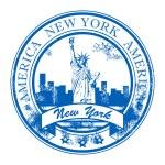 Stamp New York, America — Stock Vector #11323874