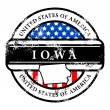 Stockvektor : Stamp Iowa