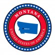 Label Montana — Vector de stock #11355362
