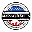 Stamp Massachusetts — Stock Vector #11355493