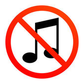 No music — Stock Vector