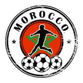 Morocco football — Stockvektor