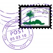 Stock Vector: Postage stamp