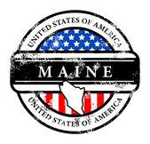 Stamp Maine — Stock Vector