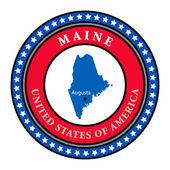 Label Maine — Stock Vector