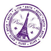 Stamp Paris, France — Stock Vector