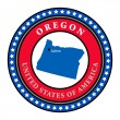 Label Oregon — Stock Vector