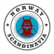 Stamp Norway, Scandinavia — Stock Vector