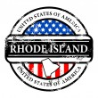 Stamp Rhode Island - Stock Vector