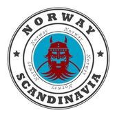 Pul norveç, i̇skandinavya — Stok Vektör