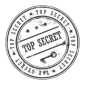 Stamp Top Secret — Stock Vector