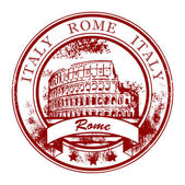 Stamp Rome, Italy — Stock Vector