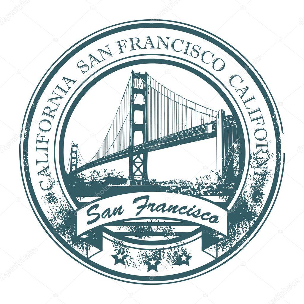 Stamp San Francisco California Stock Vector 169 Fla