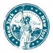 Stamp New York — Stock Vector