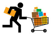 Running man — Stock Vector