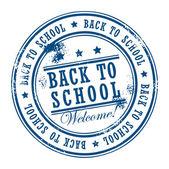 Stamp Back to School — Stock Vector
