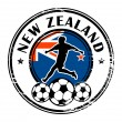 New Zealand football — Stock Vector