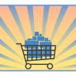 Full shopping cart — Stock Vector