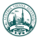 Stamp Vienna, Austria — Stock Vector