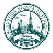 Stamp Vienna, Austria — Stock Vector