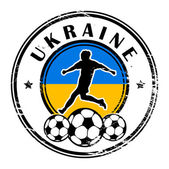 Ukraine football — Vector de stock