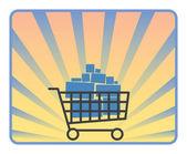 Full shopping cart — Stock Vector