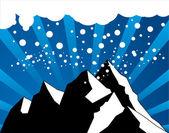 Abstract winter mountain — Stock Vector