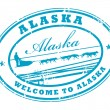 Stock Vector: Alaska stamp