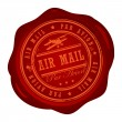 Постер, плакат: Air Mail stamp