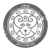 Zodiac Aries — Stock Vector