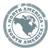 North America stamp — Vector de stock