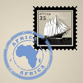 Africa stamp — Stock Vector