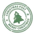 Постер, плакат: Christmas Post stamp
