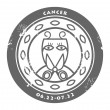 Stock Vector: Zodiac Cancer