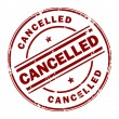 Stock Vector: Cancelled stamp
