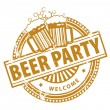 Beer Party stamp — Stock Vector