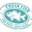 Stock Vector: Fresh fish stamp