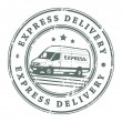 Express delivery stamp — Stock Vector