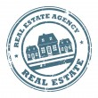 Stock Vector: Real estate agency stamp