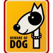 Stock Vector: Beware of dog